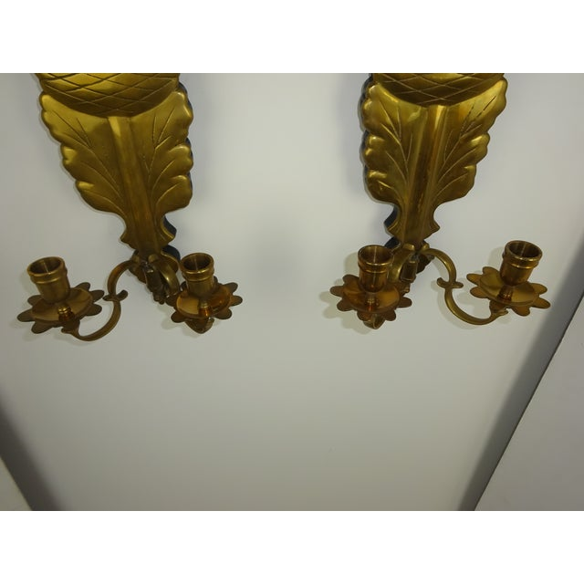 Chapman Brass Double Arm Wall Sconces - a Pair Chairish