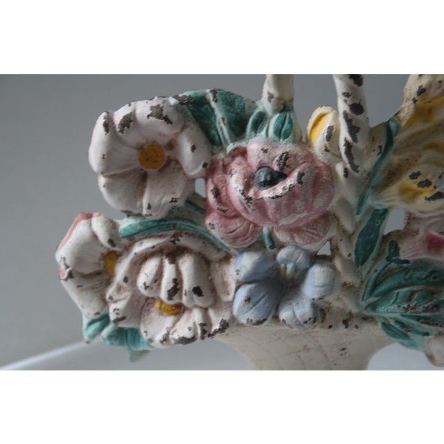 Antique Cast Iron Floral Doorstop - Image 5 of 6