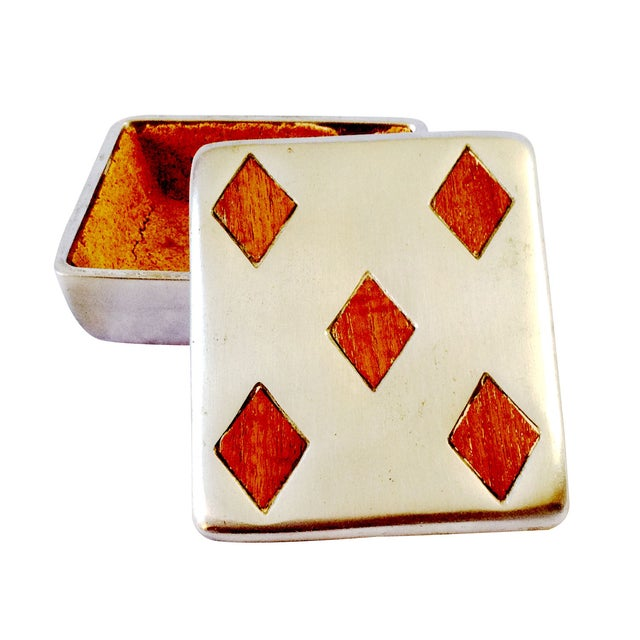 "Vintage Ben Seibel Silver ""Five of Diamonds"" Box - Image 1 of 5"