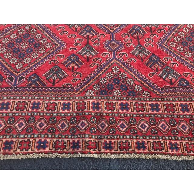 "Vintage Persian Yalameh Area Rug - 7'8"" x 9'7"" - Image 8 of 11"