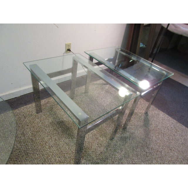 Milo Baughman Chrome Side Tables - A Pair - Image 7 of 11