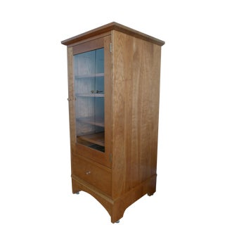 Stickley Mission Cherry Glass Door Stereo Cabinet