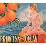 Image of 1930s Vintage Spanish Label, Princess