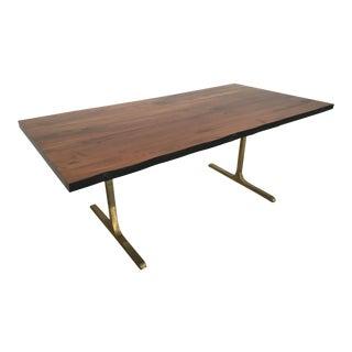 Live Edge Solid Walnut & Bronze Table