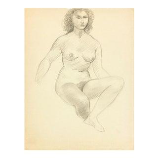 Female Figure Drawing Free Mat&Shipping, C. 1940