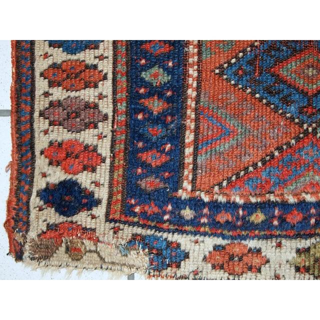 1880s Handmade Antique Persian Kurdish Rug - 2′ × 3′3″ - Image 8 of 10
