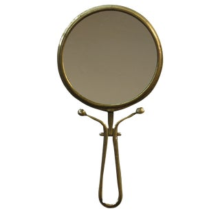 Vintage Brass Pivoting Mirror