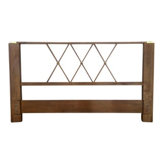Wood & Brass Headboard