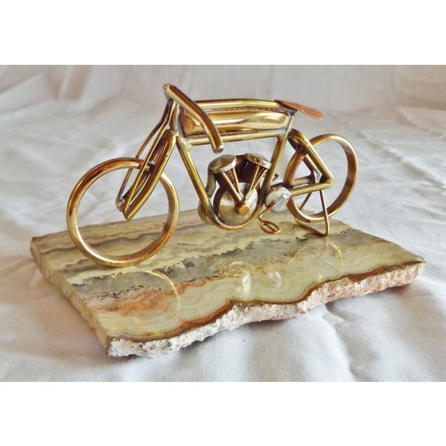Brass Motorcycle Sculpture Cyclone Racer - Image 2 of 10