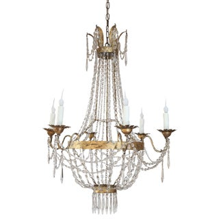 Late 19th Century Crystal Milanese Chandelier