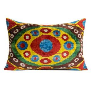 Silk Velvet Bolo Ikat Pillow
