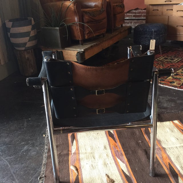 Mid Century Safari Leather Chair - Image 8 of 11