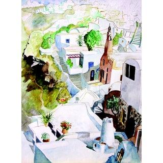 Santorini Villas Original Print