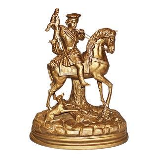 Hollywood Regency Gilded Terracotta Figurine