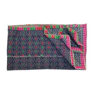 Hill Tribe Indigo Embroidered Wedding Quilt