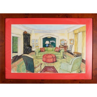 Classic Interior Watercolor Painting