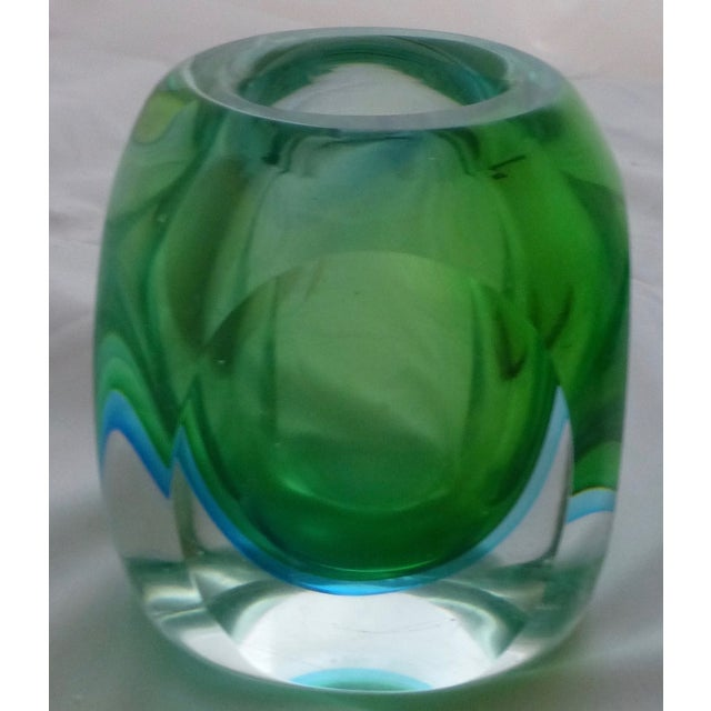 Vintage Murano Glass Sommerso Vase by Flavio Poli - Image 5 of 9