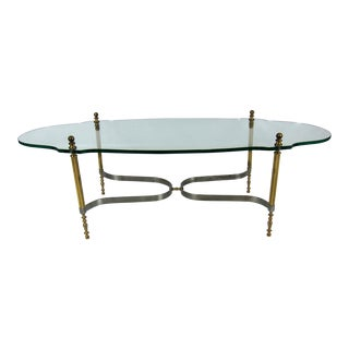 Brass and Steel Coffee Table by LaBarge