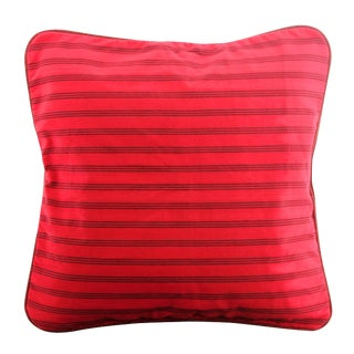 Red Lurik Woven Striped Pillow