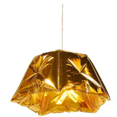 Image of Dent Gold Metallic Pendant Light