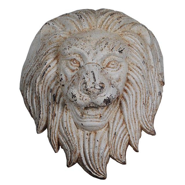 Late 19th C. Monumental Cast Iron Lion Wall Mount - Image 1 of 6