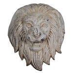 Image of Late 19th C. Monumental Cast Iron Lion Wall Mount