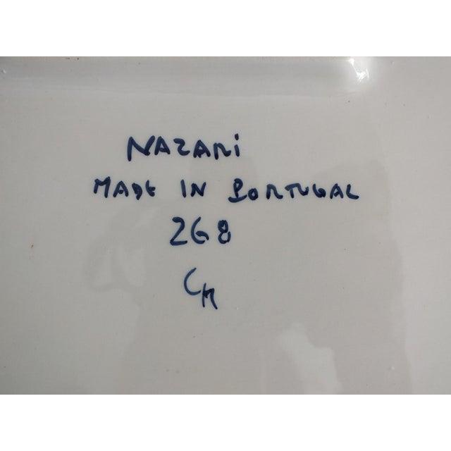 Nazari Blue & White Hand Painted Portuguese Platter - Image 8 of 9