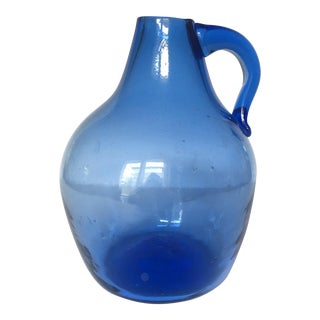 Country French Blown Glass Jug