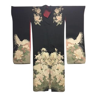 1940's Silk Screened Adult Kimono