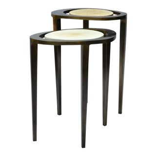 R & Y Augousti Bronze Nesting Side Tables