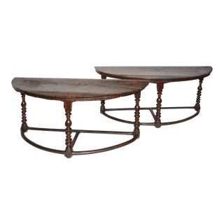 Large 17th c. Walnut Console Tables