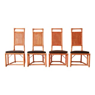 Tommi Parzinger for Willow & Reed Rattan High Back Chairs- Set of 4