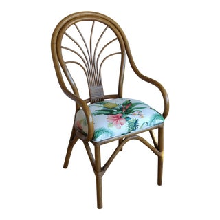 Palm Beach Regency Rattan Accent Chair
