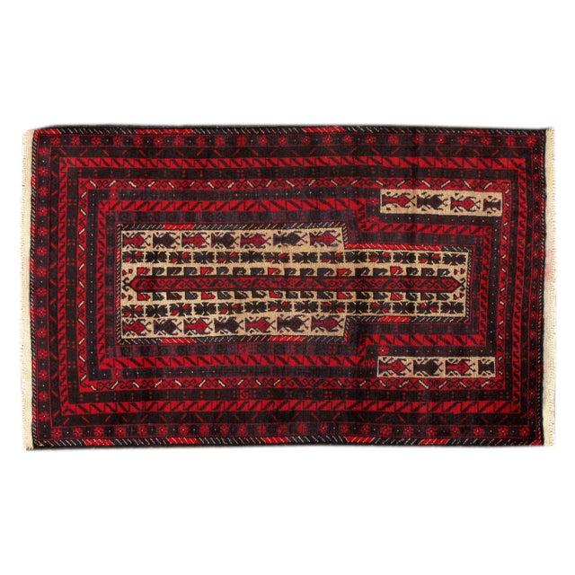 "Image of Apadana - Vintage Red Baluch Rug - 2'10"" X 4'6"""