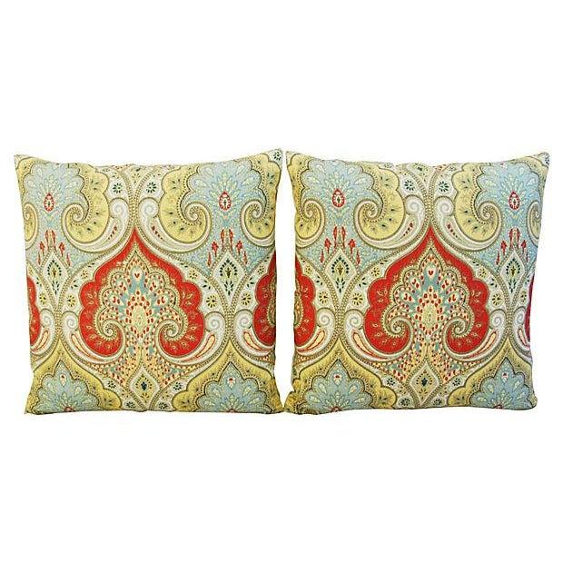 Custom Kravet Latika Festival Linen Pillows - Pair - Image 6 of 7