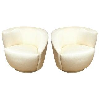 """Pair of Vladimir Kagan"""" Nautilus"""" Swivel Lounge Chairs"""