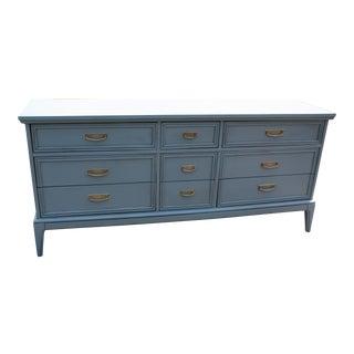 Mid-Century Dark Grey Dresser