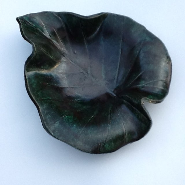 Image of Vintage Studio Pottery Leaf Tray