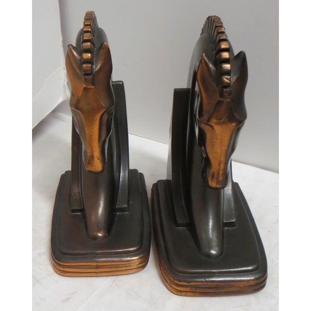 1930s Trojan Horse Bookends - Pair - Image 4 of 5
