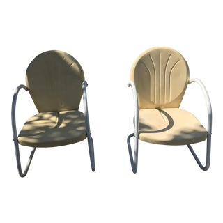 Vintage 1945 Outdoor Lounge Chairs - A Pair