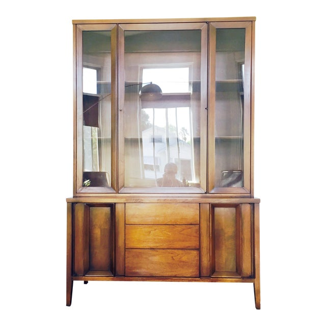 Vintage Mid Century Walnut Hutch - Image 1 of 10