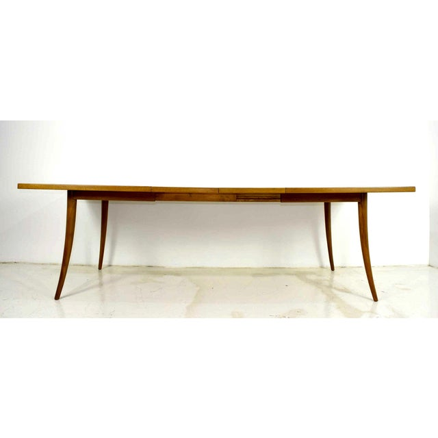 Harvey Probber Saber Leg Table in Bleached Mahogany - Image 2 of 10