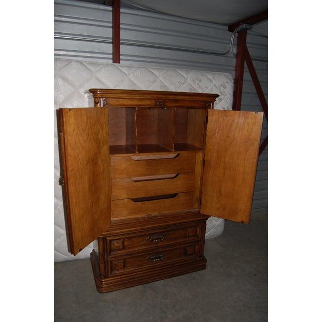 Thomasville Furniture Mediterranean Style Armoire - Image 5 of 9