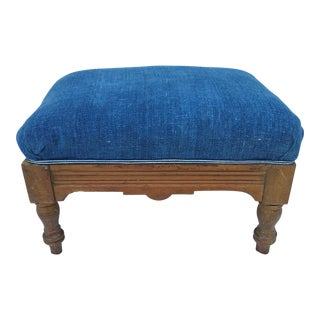 Antique Indigo Footstool