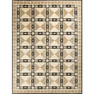 Modern Contemporary Hand Knotted Wool Rug - 9′2″ × 12′