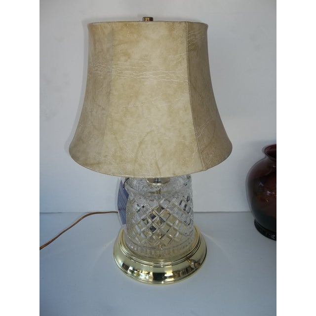 Image of Alsy Lighting Vintage Crystal & Brass Table Lamp