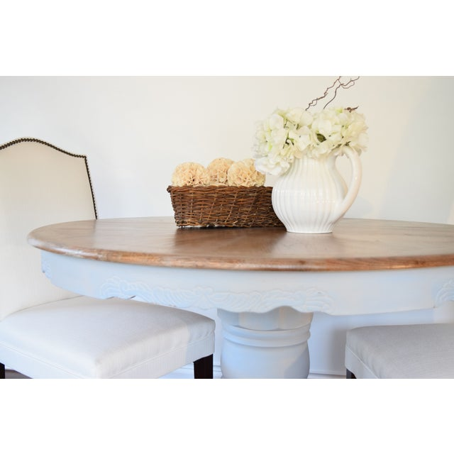 Chalk Painted French Country Dining Table - Image 2 of 7