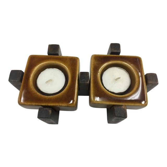 Blakeney Ceramic Gold Candleholder - Image 1 of 4