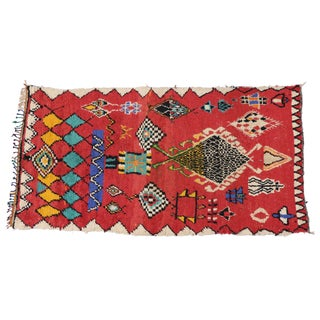 Boho Chic Vintage Berber Moroccan Rug With Modern Tribal Style - 5' X 9'4""