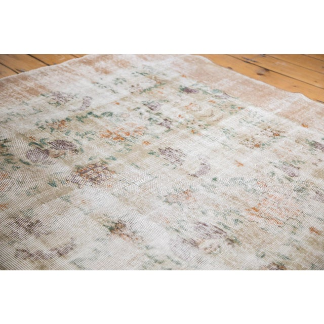 """60s Distressed Floral Oushak Rug - 6'3"""" x 10'2"""" - Image 2 of 7"""